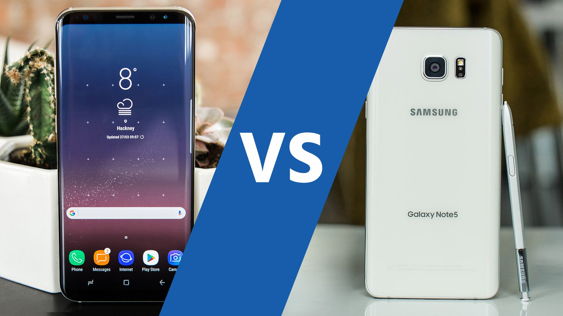 AndroidPIT Samsung Galaxy S8 plus vs Note 5