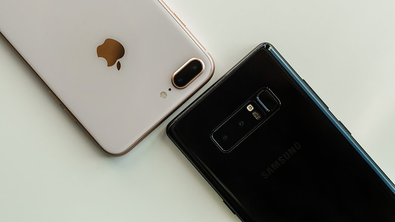 AndroidPIT iPhone 8 Plus vs Samsung Galaxy Note 8 3376