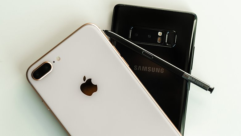 AndroidPIT iPhone 8 Plus vs Samsung Galaxy Note 8 3396