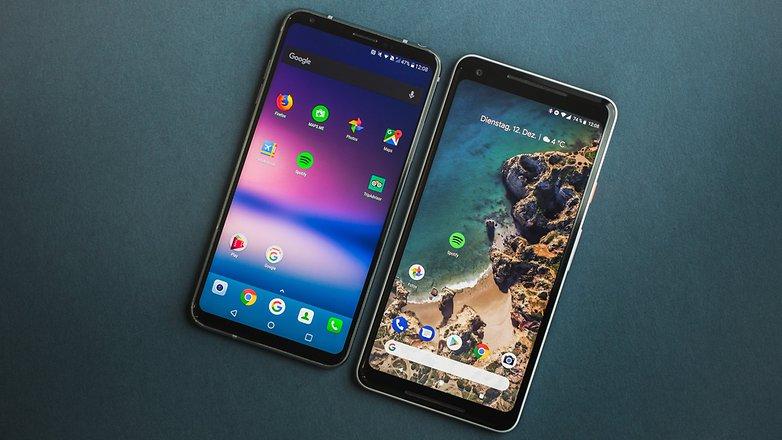 AndroidPIT lg v30 vs google pixel 2 xl 7088