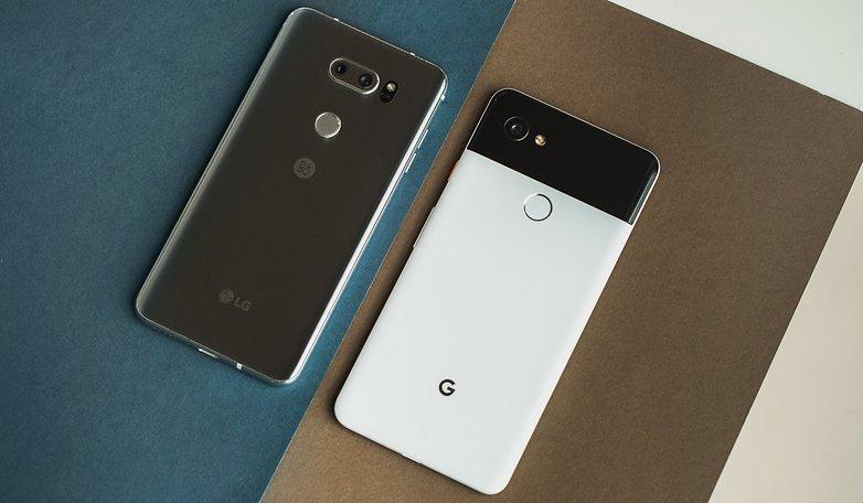 AndroidPIT lg v30 vs google pixel 2 xl 7099