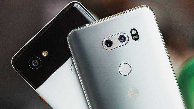 AndroidPIT lg v30 vs google pixel 2 xl 7130