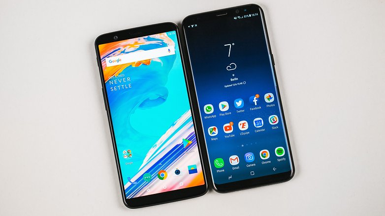 AndroidPIT oneplus 5t vs samsung galaxy s8 plus 6732