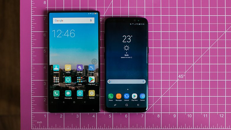 AndroidPIT samsung galaxy S8 vs xiaomi mi mix comparison 5602