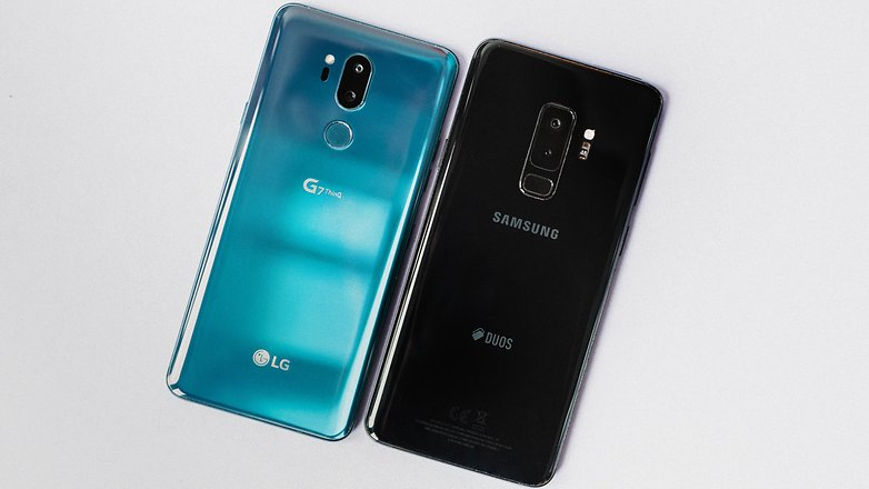The G7 does not feel as good on the hand as the S9 Plus, but it has some very interesting color options.
