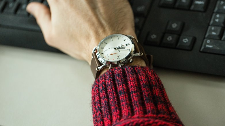 AndroidPIT Fossil q hybrid smartwatch 8715