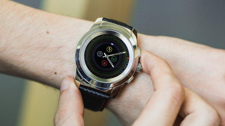 AndroidPIT mykronoz zetime smartwatch hybrid watch 4944