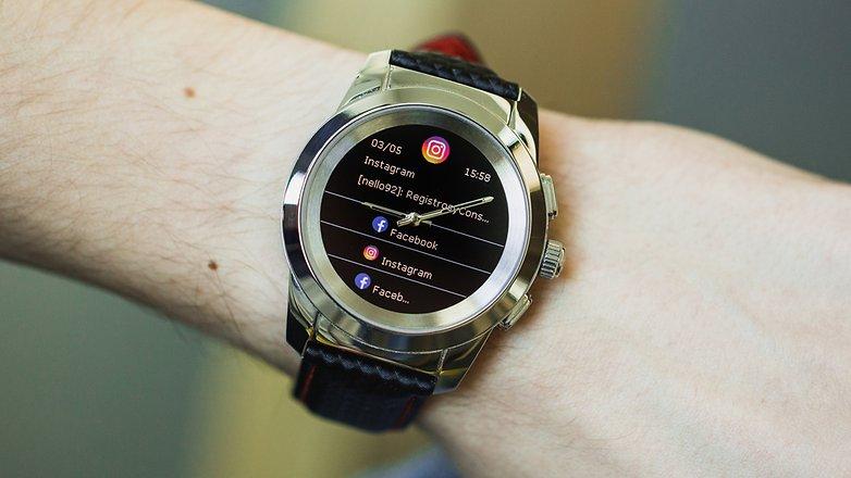 AndroidPIT mykronoz zetime smartwatch hybrid watch 4954