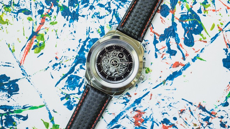 AndroidPIT mykronoz zetime smartwatch hybrid watch 4971