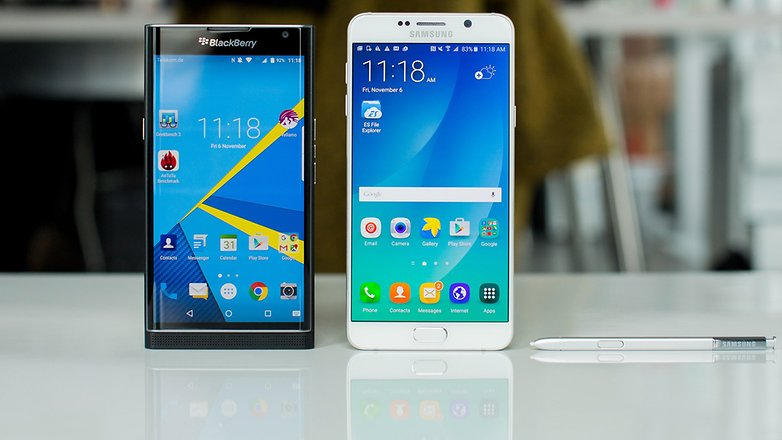 BlackBerry Priv vs Samsung Galaxy Note 5 1