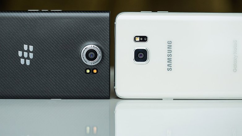 BlackBerry Priv vs Samsung Galaxy Note 5 4