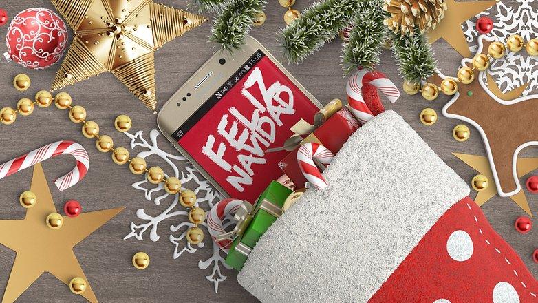 Samsung Galaxy S6 edge feliz navidad