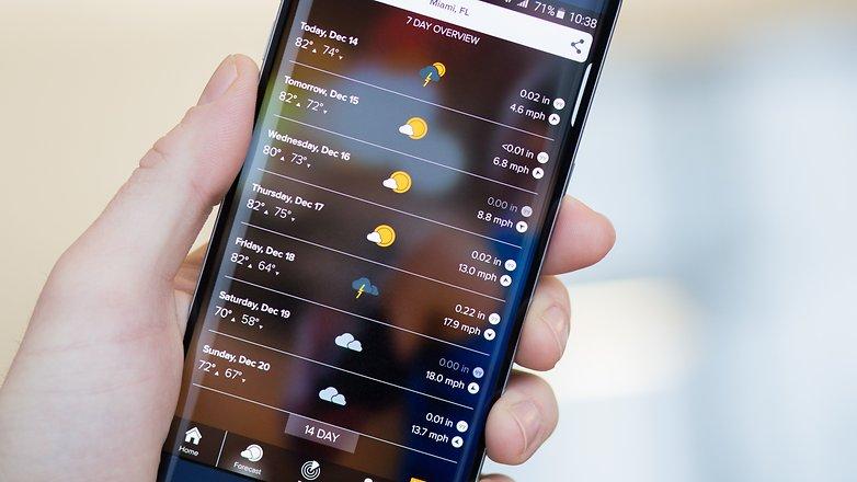 AndroidPIT Morecast weather app hero