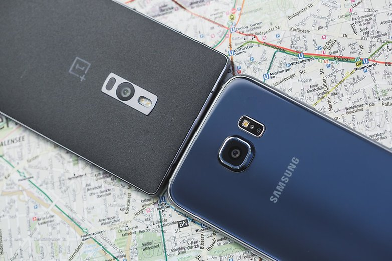 androidpit samsung Galaxy S6 vs OnePlus 6