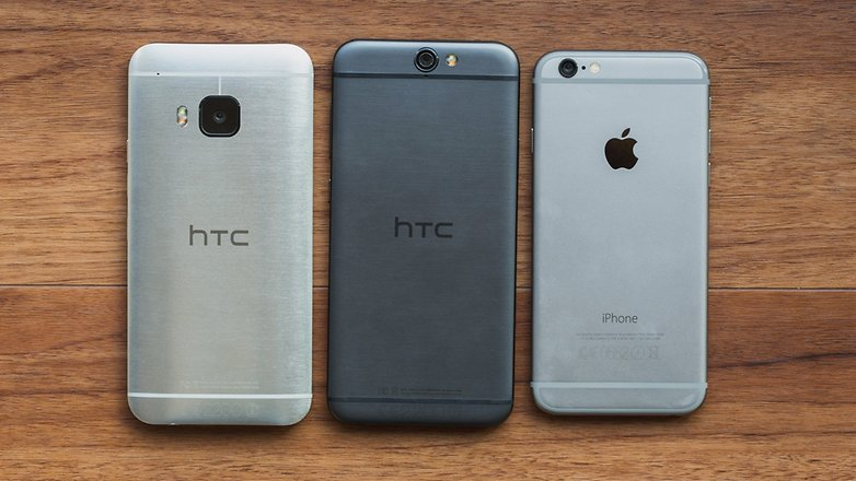 androidpit htc one a9 vs iPhone 6 4