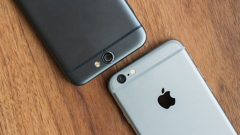 androidpit htc one a9 vs iPhone 6 5