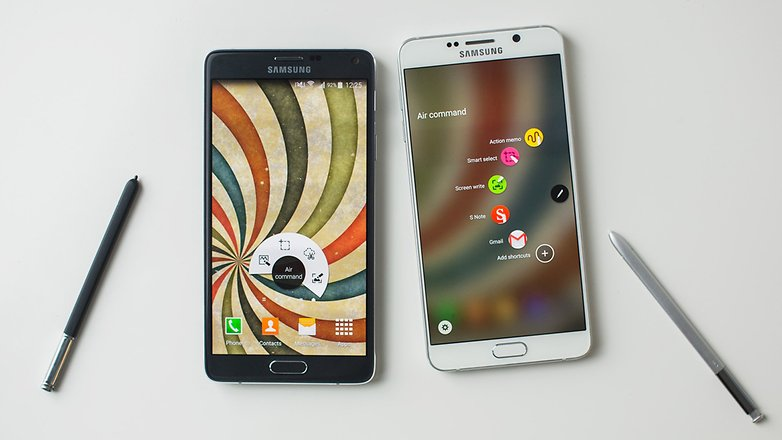 androidpit samsung Note4 vs Note5 19