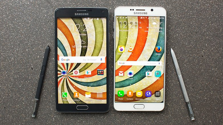 androidpit samsung Note4 vs Note5 20