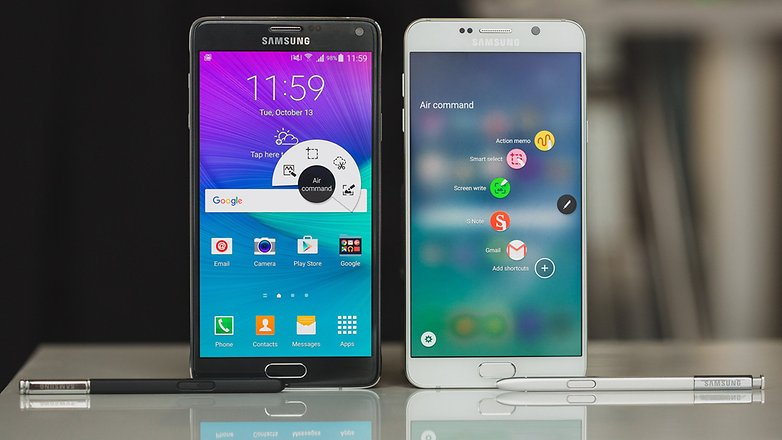 androidpit samsung Note4 vs Note5 9