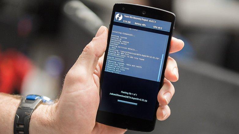 AndroidPIT Nexus 5 TWRP flashing
