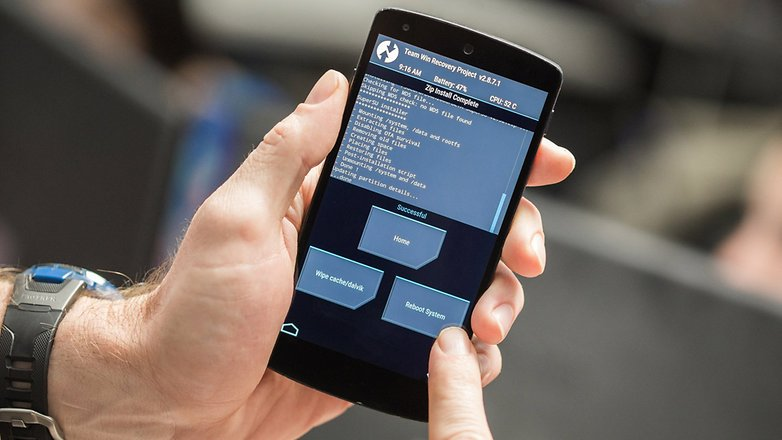 AndroidPIT Nexus 5 TWRP reboot system