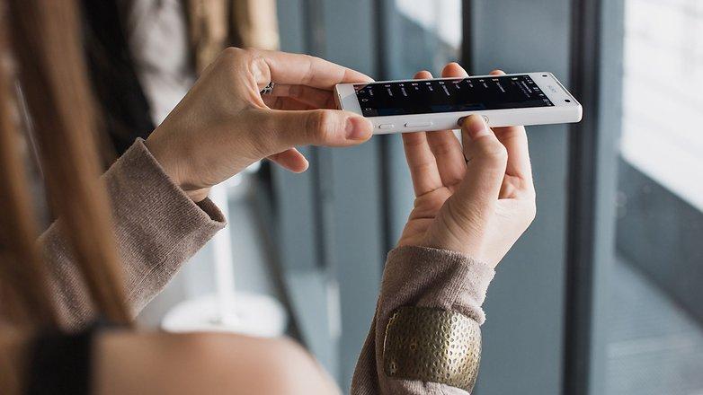 AndroidPIT fingerprint sensor xperia z5 compact
