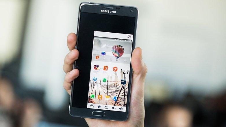 androidpit Samsung galaxy einhand modus