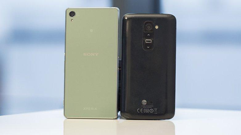 AndroidPIT XPERIA Z3 VS LG G2 3