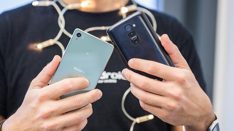 AndroidPIT XPERIA Z3 VS LG G2 4