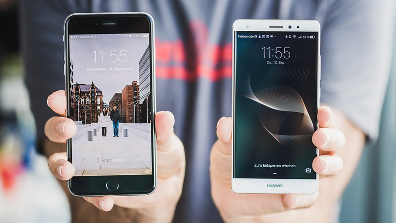 androidpit Huawei Mate S vs iPhone 6 Plus 14