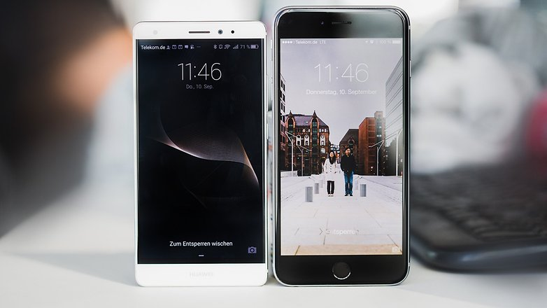 androidpit Huawei Mate S vs iPhone 6 Plus 3