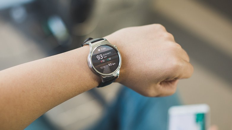 androidpit Huawei Watch heartbeat