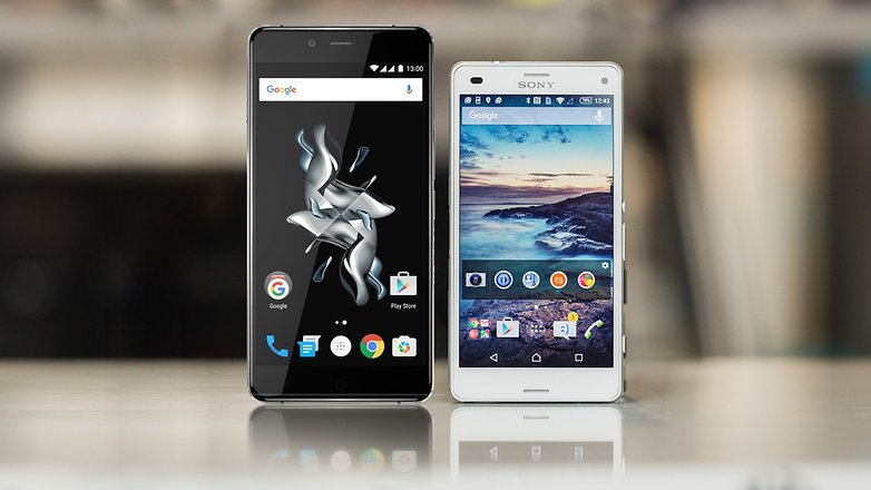 androidpit sony xperia Z3 compact vs OnePlus x 4
