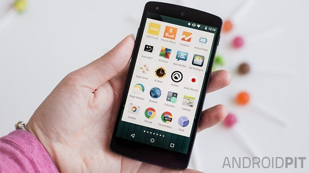 Android L lollipop interface menu