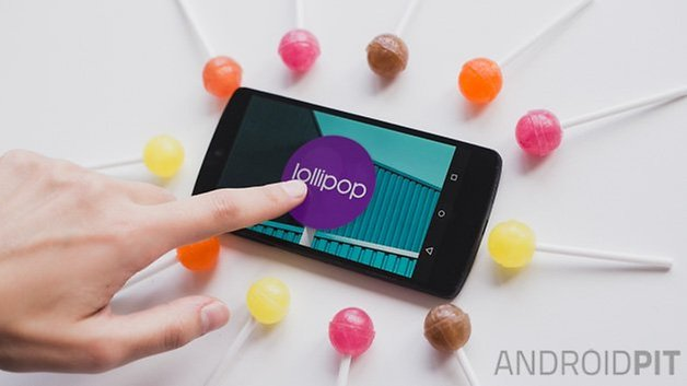 Android L lollipop interface purple