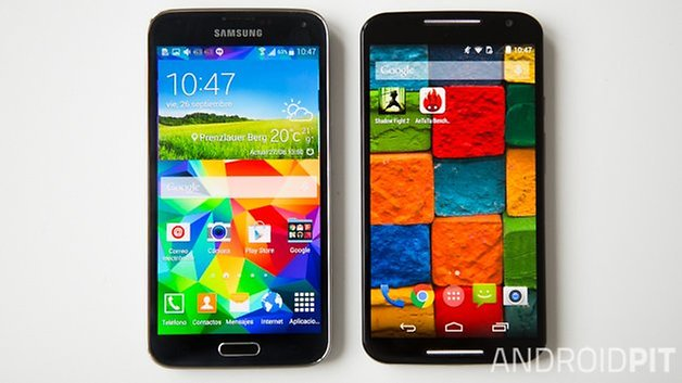 MotoX vs Samsung galaxy S5 interface espanol 1