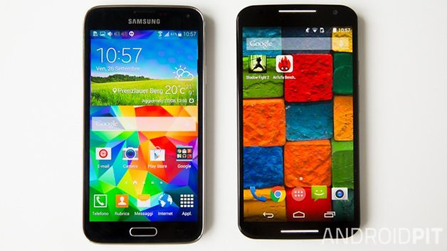 MotoX vs Samsung galaxy S5 interface italian 3