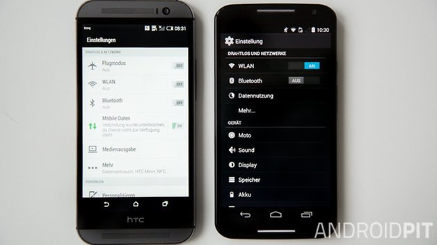 MotoX vs HTC M8 interface deutsch 1