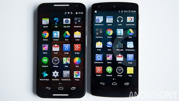 MotoX vs Nexus5 interface french 4