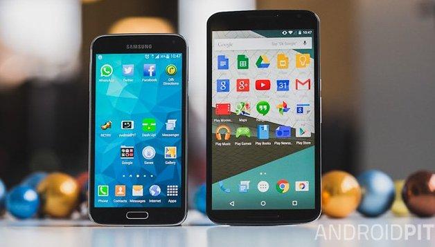 Samsung Galaxy S5 vs Nexus 6 : un choix très difficile