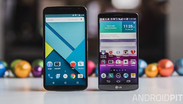 Nexus 6 vs LG G3 - Comparación