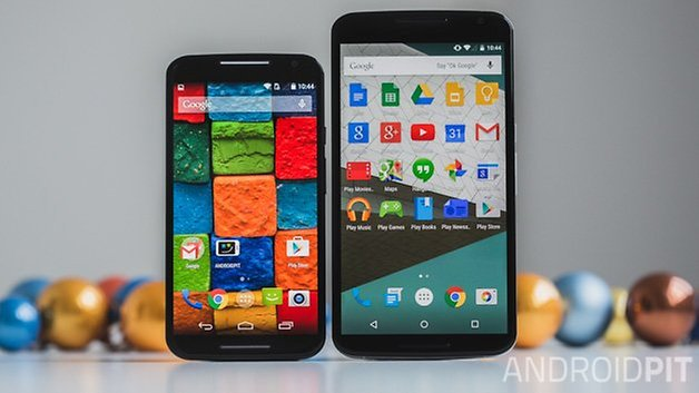Nexus6 vs MotoX2014screens