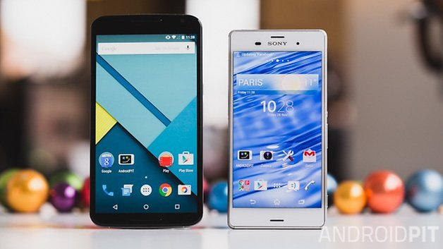 Nexus6 vs Sony Xperia Z3 1