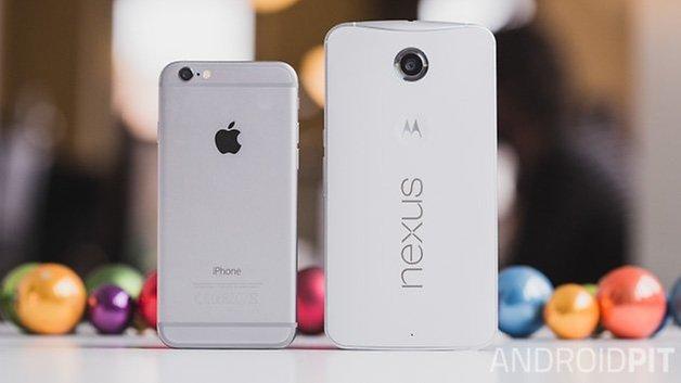 Nexus6 vs iPhone6 1
