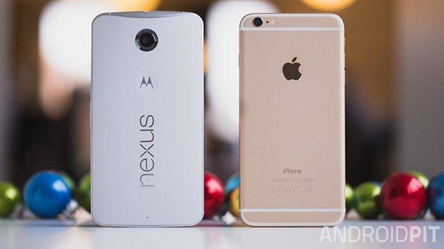 Nexus6 vs iPhone6 plus