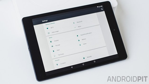 Nexus 9 2014 ANDROIDPIT settings