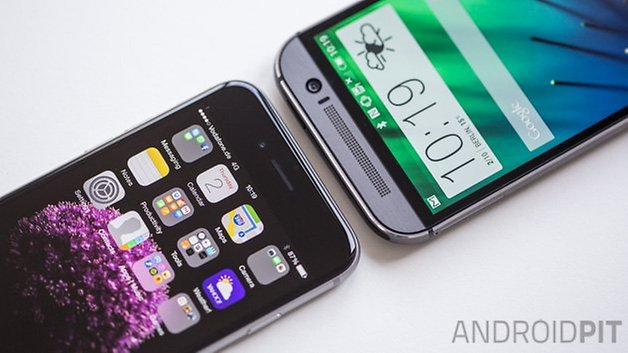 HTC One M8 vs iPhone6 3