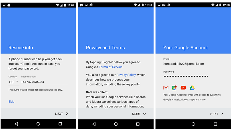 How to make a Google Account using Android