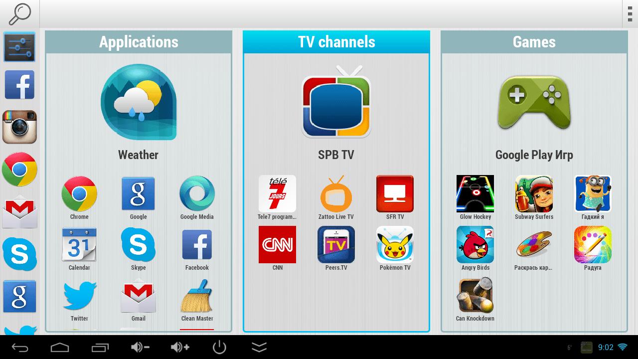 applications sur smart tv sanyo