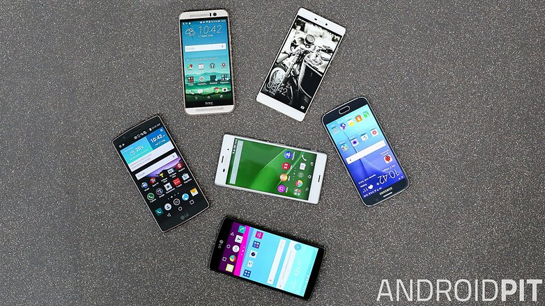 All types of smartphone screens 98